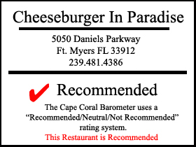 Cheeseburger in Paradise - Fort Myers - Restaurant Review