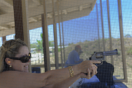 Female Firing a Smith & Wesson