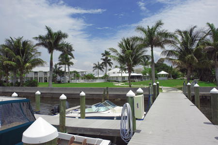 Dock at the Tarpon Lodge